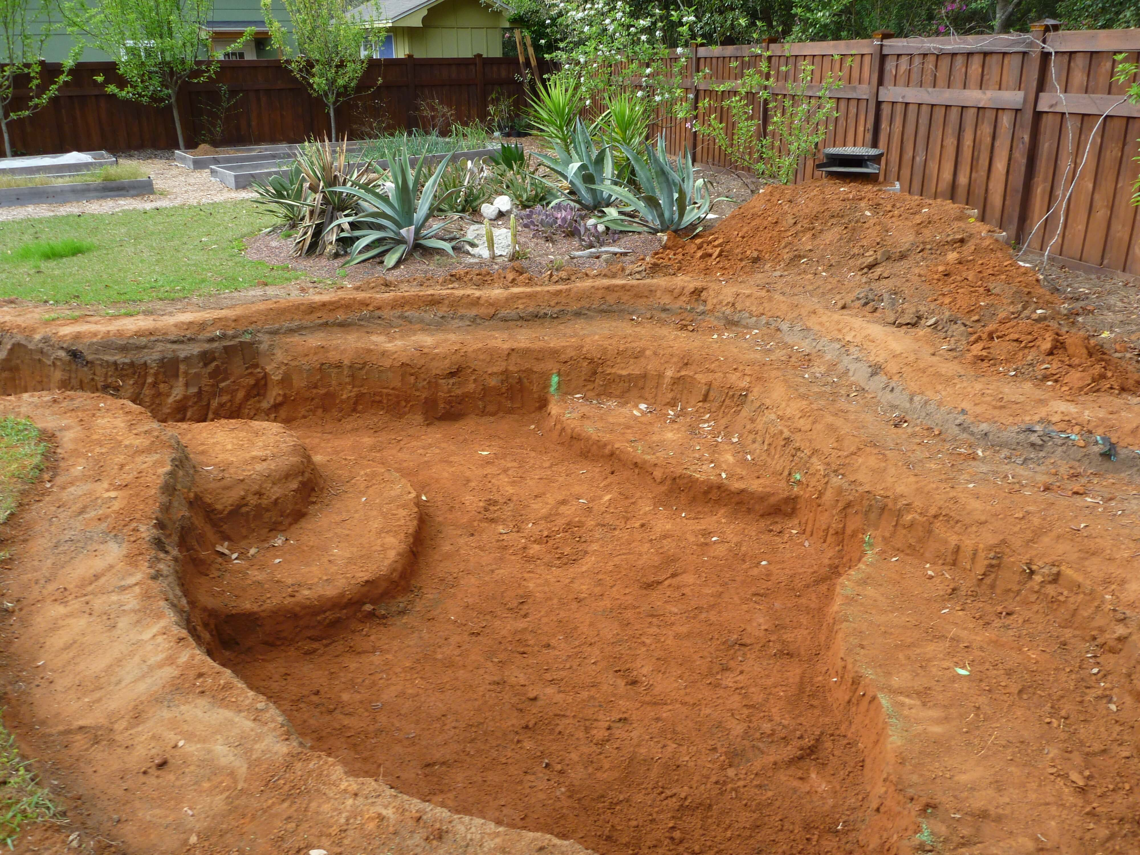 Part 4 Pond Construction Waterfall Formed Pond Digging